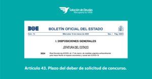 Real Decreto Ley 8/2020 articulo 43